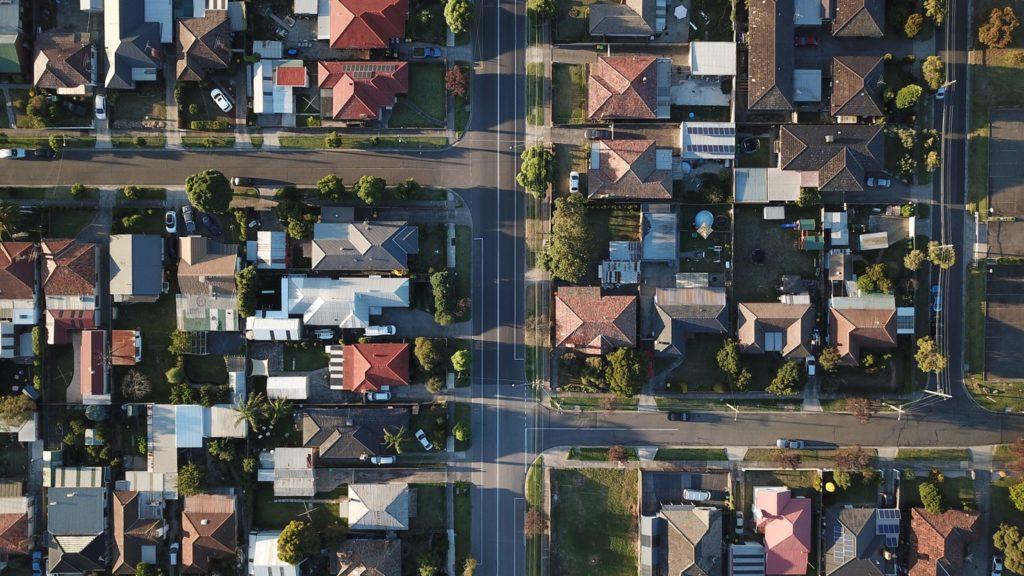 single family homes - bird's eye view