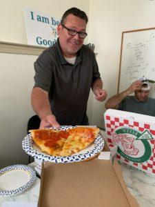 Volunteer work pizza